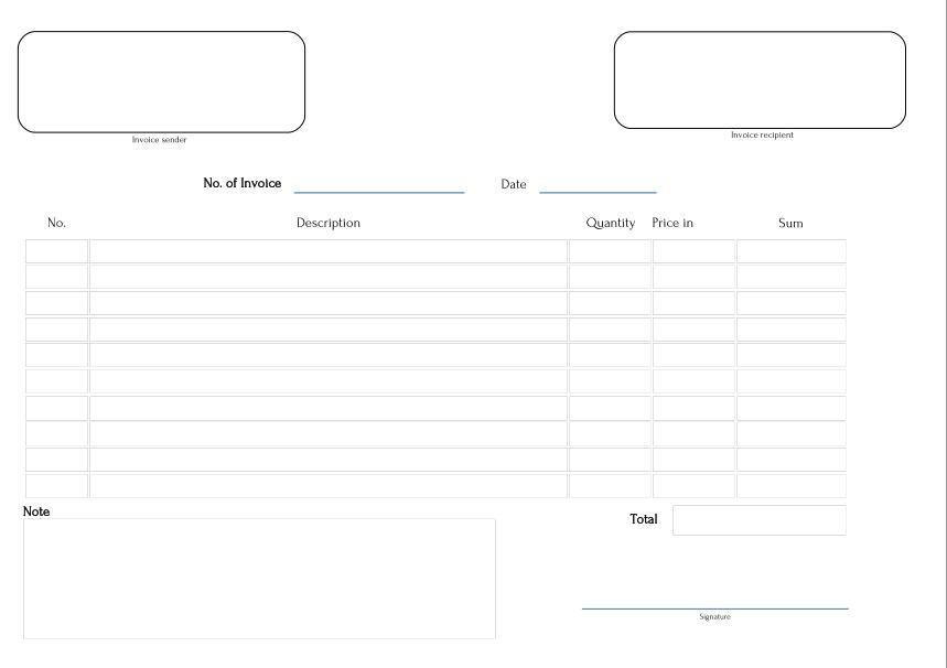 fillable invoice, Invoice templates